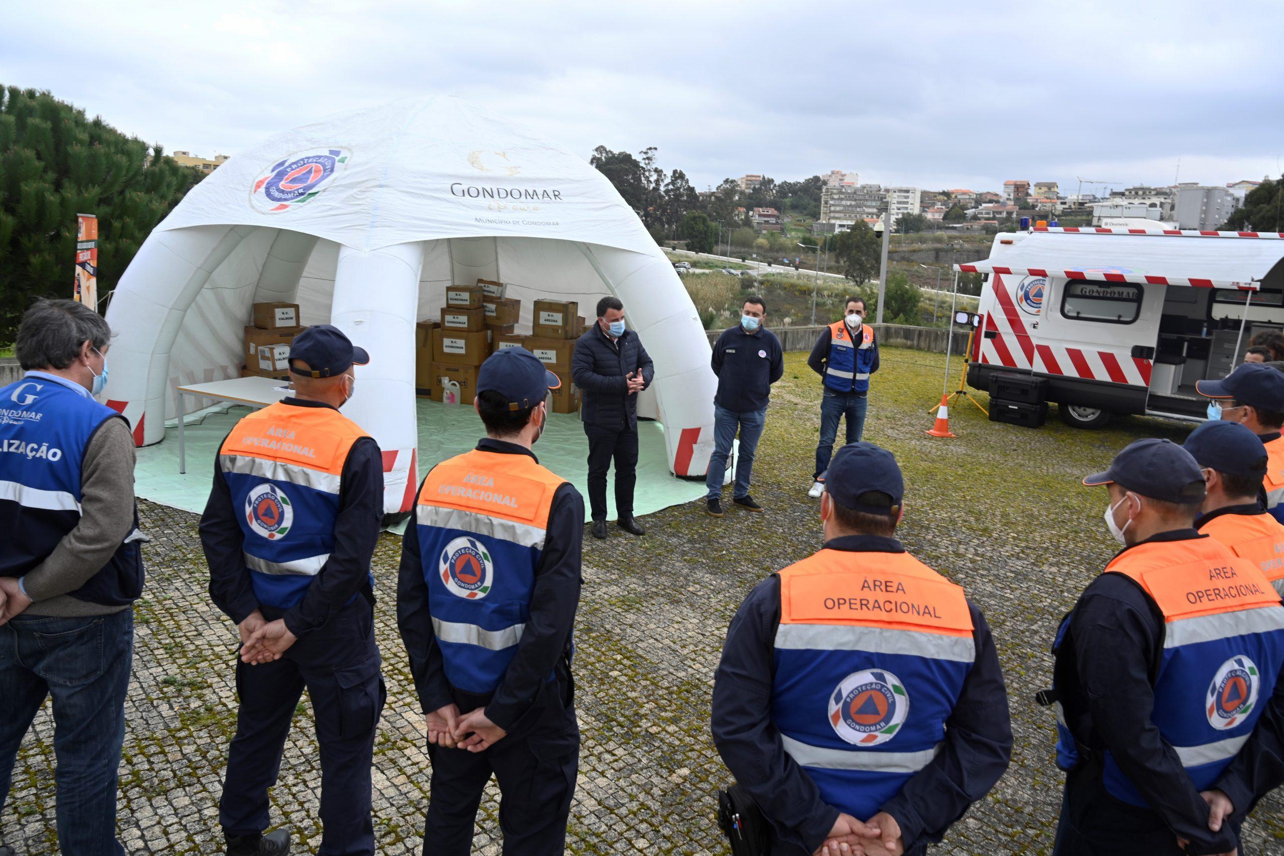 Assinalado o Dia Mundial da Proteção Civil com entrega de EPI's